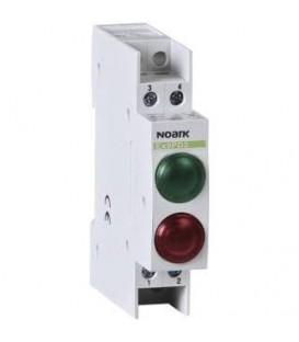 Signálka LED Noark Ex9PD2gr 230V AC/DC červená+zelená