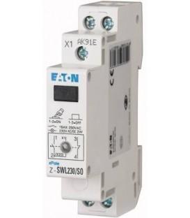 Instalační vypínač EATON Z-SWL230/SS s LED signálkou 2NO 16A 276306