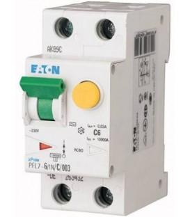 Proudový chránič s jističem EATON PFL7-6/1N/003/C 6A 30mA AC PFL7-6/1N/C/003 263432