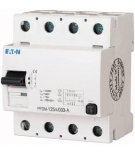 Proudový chránič EATON PFDM-125/4/003 125A 30mA AC 235916