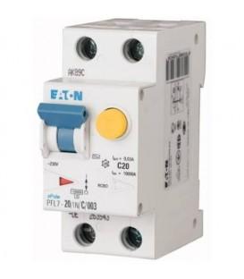 Proudový chránič s jističem EATON PFL7-20/1N/003/B 20A 30mA AC PFL7-20/1N/B/003 263540
