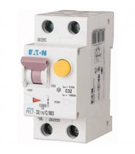Proudový chránič s jističem EATON PFL7-32/1N/003/B 32A 30mA AC PFL7-32/1N/B/003 263552