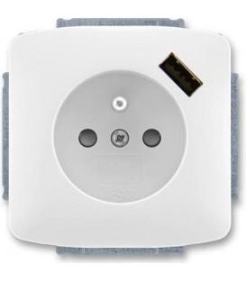 ABB Tango zásuvka s USB bílá 5569A-A02357 B