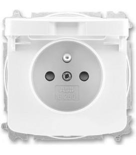ABB Tango zásuvka s víčkem bílá 5519A-A02397 B