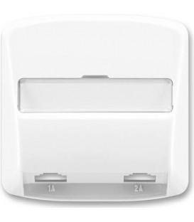 ABB Tango kryt zásuvky telefonní dvojnásobné (pro přístroj 5013U) bílá 5013A-A00215 B