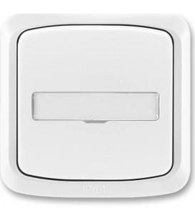 ABB Tango tlačítko č.1/0So IP44 s popisovým polem bílá 3558A-80920 B