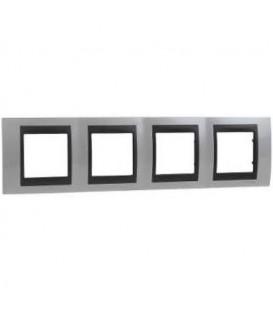 Schneider Unica Top čtyřrámeček H71 top white/grafit MGU66.008.292