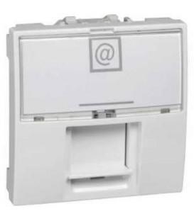 Schneider Unica datová zásuvka 1xRJ45 S-One kat.6 STP 2m polar MGU3.417.18