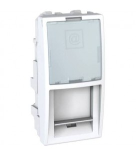 Schneider Unica kryt datové zásuvky 1modul Polar MGU9.420.18