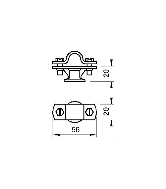 Držák tyče OBO 113 Z-16 d-16mm 5412609