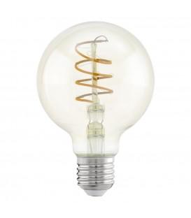 LED žárovka E27 Eglo 11722 Spiral jantar G80 4W (25W) teplá bílá (2200K)
