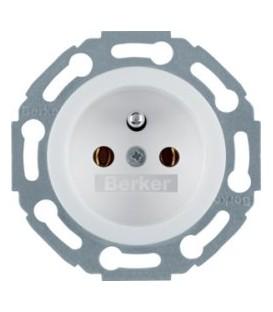 Berker Serie 1930 zásuvka bezšroubová lesklá bílá 676879