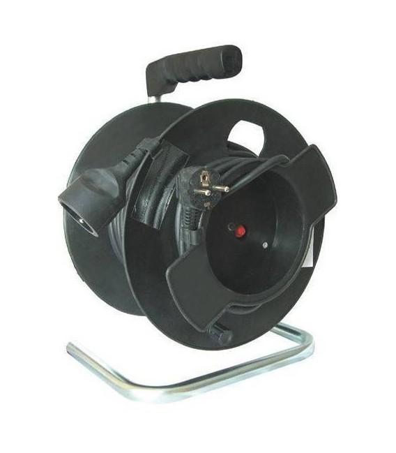 Prodlužovací kabel na bubnu 25m/1zásuvka 3x1,5 černá PB11
